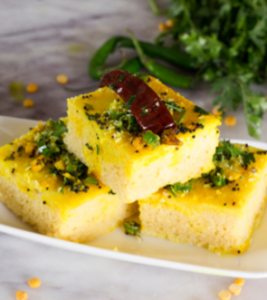 Dhokla Non with ghee inside