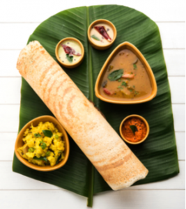 Dosa south indian food veganizable by avoiding ghee