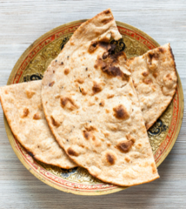 Roti bread make sure to avoid ghee