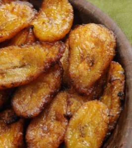 PLÁTANO MADURO FRITO Vegan plantain food