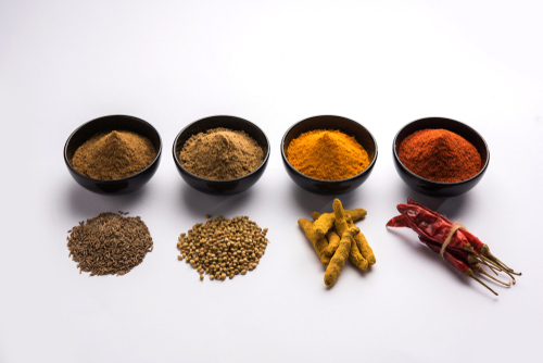 The four basic spices.