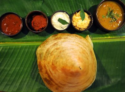 Dosa with ghee