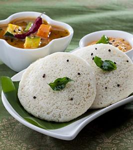 Vegan Idli south indian meal