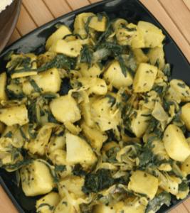 Krumpir-blitva vegan food
